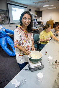 Joanna Orozco with the Islander Green Team takes part in a DIY workshop to make body scrub, bath salts, body butter and decorations from all natural ingredients.
