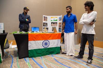 Students at the Food Tasting and Cultural Exhibition at the Anchor Ballroom.