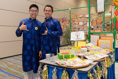 Dung Pham (left) and Trung Le at the Xin Chao Vietnam event.