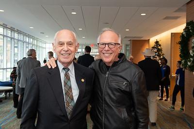 TAMU-CC President Emeritus Dr. Robert Furgason (left), and State Rep. Todd Hunter.