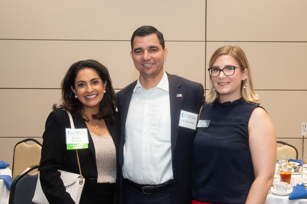 Paulette Guajardo (left), Luis Buentello, Bethany Frankland.
