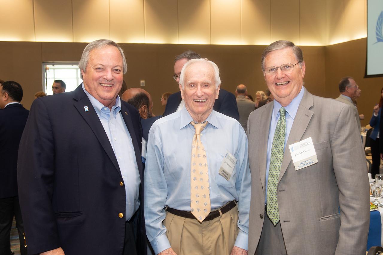Ben Wallace (left), Jim Barnette, and Corpus Christi Mayor Joe McComb.