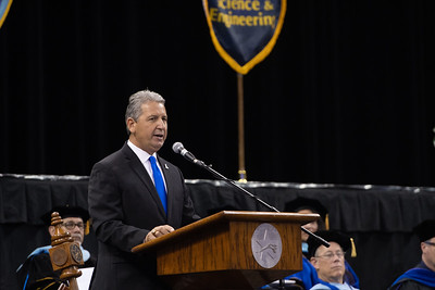 Commencement speaker Ed Cantu during the TAMU-CC 2018 Summer Commencement.