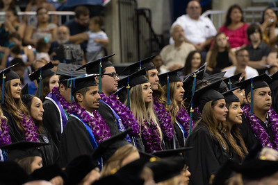 TAMU-CC graduates stand to be recognized during the 2018 Summer Commencement ceremony.
