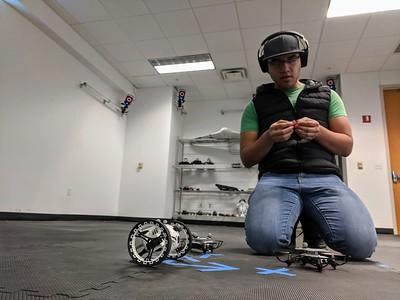 Texas A&M University-Corpus Christi Assistant Professor Dr. Luis Garcia Carrillo and his research team are working to develop an intelligent controller to allow a group of UAVs to fly together as a flock.