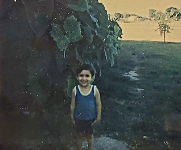 Grandparent's home on the King Ranch (around age four)