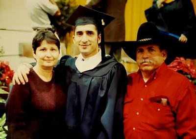 TAMUK graduation (MA) with parents.