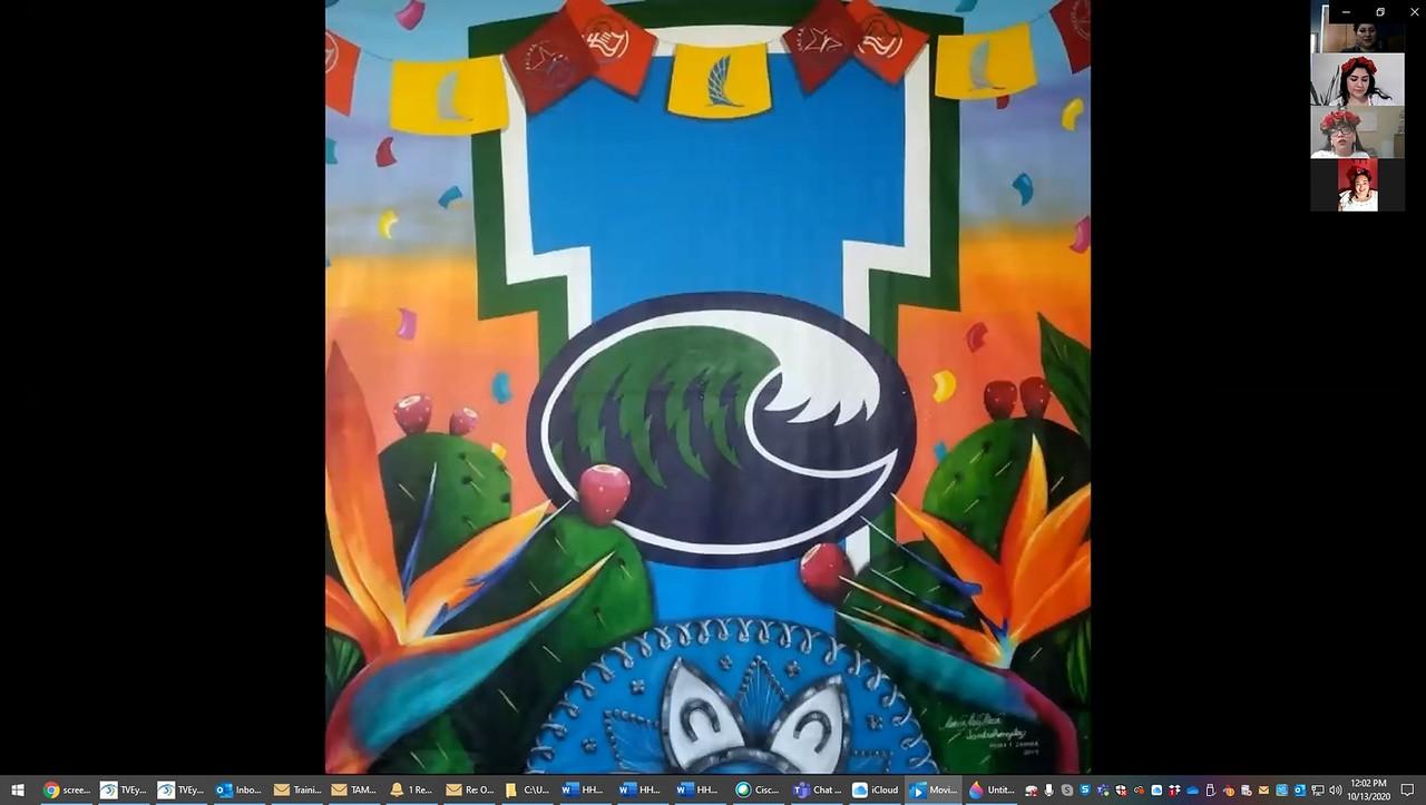p-Las-Muralistas-Mayra-Zamora-presentation-TAMU-CC mural