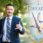 Outstanding Graduate Jesse Dolin earning an Ed.D. in Educational Leadership.