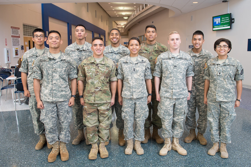 TAMUCC ROTC cadets are awarded $1000 performance based scholarships for exceeding standards during an annual Army Physical Fitness Test.