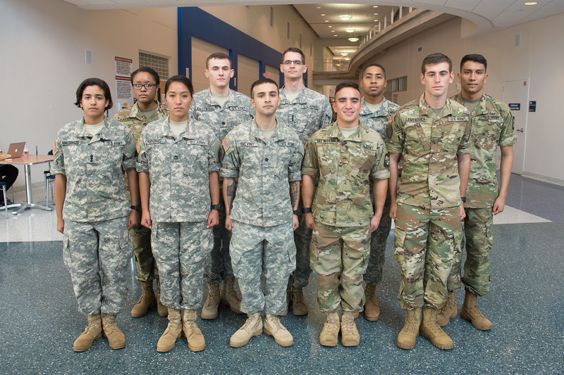 TAMUCC ROTC cadets are awarded $1000 performance based scholarships for exceeding GPA standards during the Spring 2016 semester.