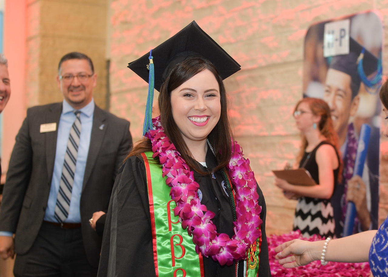 Stefanie Reyes was one of more than 1100 Islanders who received their degrees during two Commencement ceremonies held on May 12, 2018