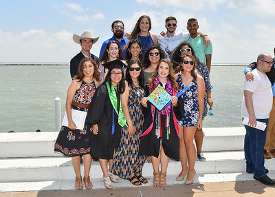 Islanders pose with family and friends after the Spring 2018 Commencement ceremony held on May 12, 2018.