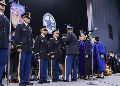 Members of the Islander Army ROTC Battalion were recognized during the Commencement ceremonies held on May 12, 2018.