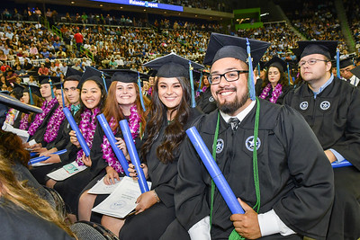 Over 1100 students walked the stage to receive their degrees from the university's five different colleges during two Commencement ceremonies held on May 12, 2018.