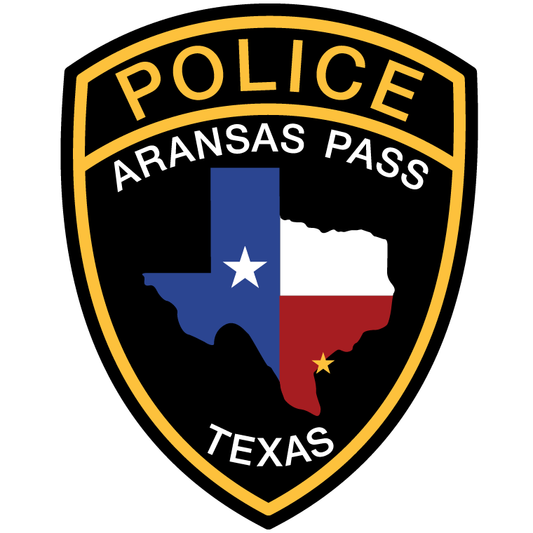 The Aransas Pass Police Department seal. The APPD is dedicated to providing service above self through smart, dynamic, modern, and compassionate policing.