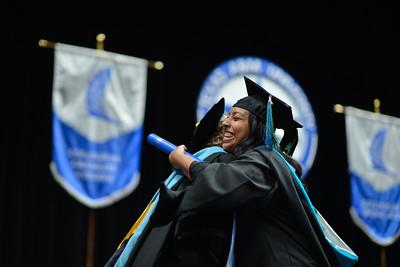 Islander graduates receive their degrees during the Texas A&M University-Corpus Christi spring 2019 commencement ceremonies.