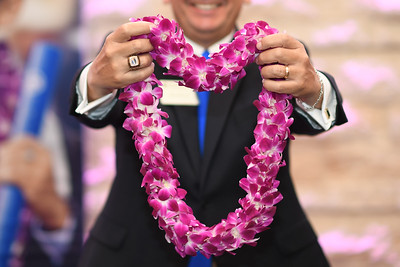 Flown directly to Texas A&M University-Corpus Christi from Thailand, these double-orchid leis have become a commencement tradition.