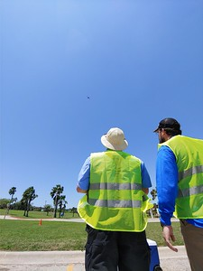 Michael Logan and Walter Mills-Marin controlling Aircraft