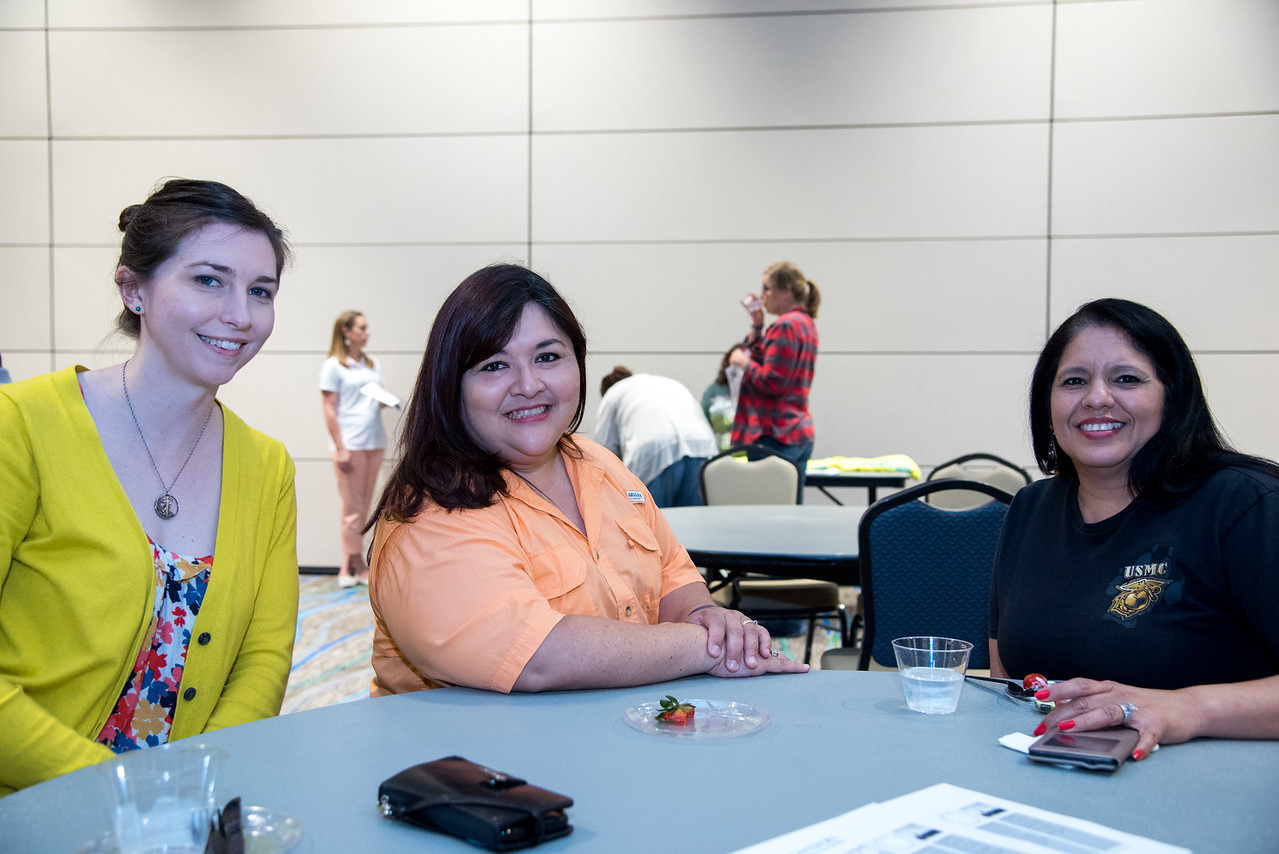 Leah Barts, Esmeralda Teran, and Melissa Adames at the Break in the Day event
