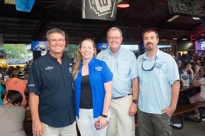 Greg Stunz (left), Jenn Wetz, Larry McKinney, Judd Curtis.