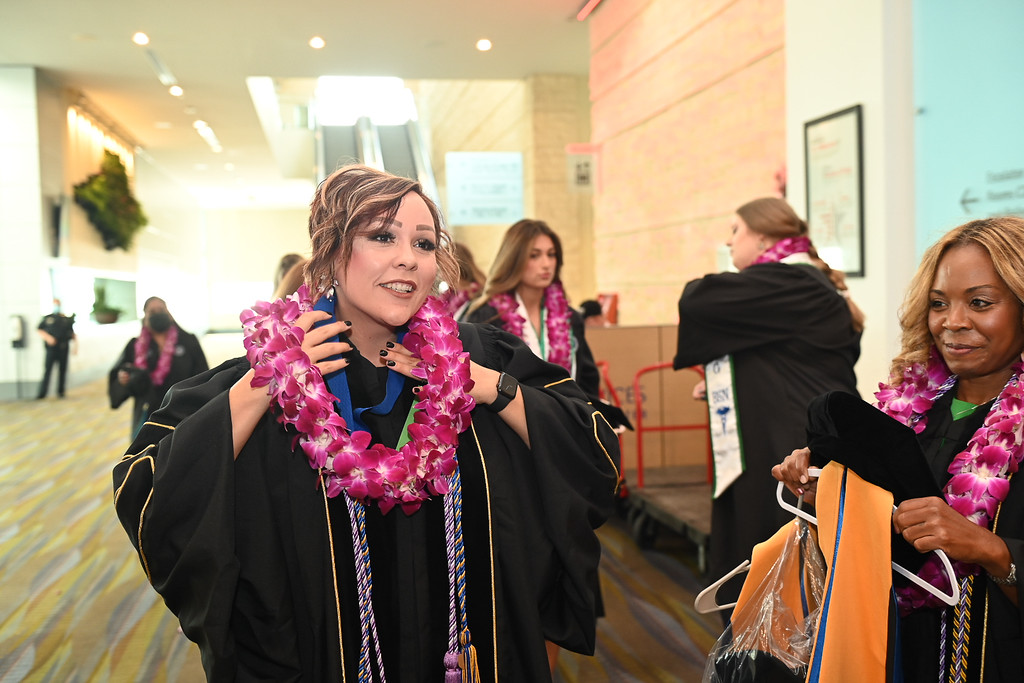 Dr. Bobi Jo Martinez receives a Doctor of Nursing Practice degree during the Texas A&M University-Corpus Christi summer 2021 commencement ceremony. During her time at the University, Martine ...
