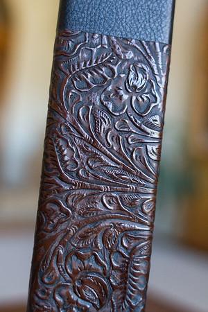 Jet Black / Vintage Brown Leather