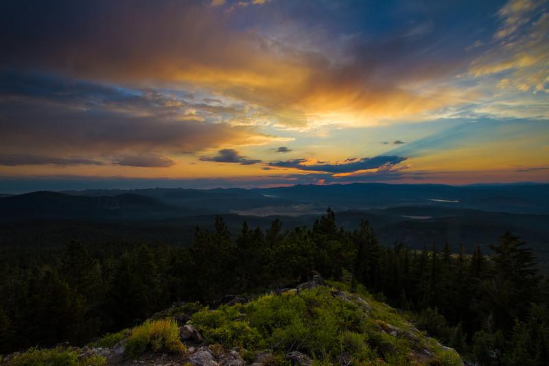 Truckee Sunset, Martis Peak