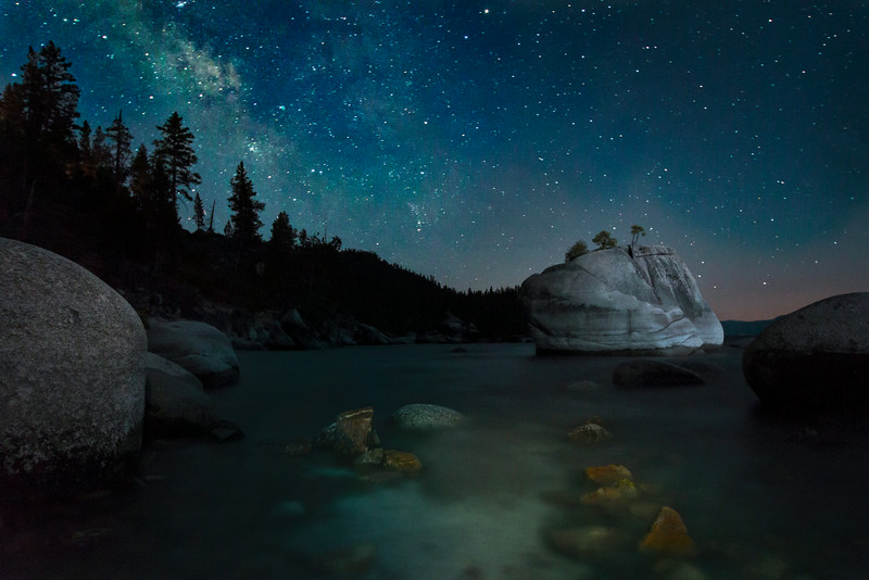 Milkyway at Bonsai Rock, Lake Tahoe