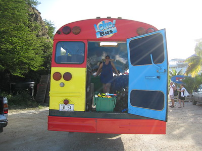 The Loko Bus - our snorkeling excursion in Willemstad, Curacao