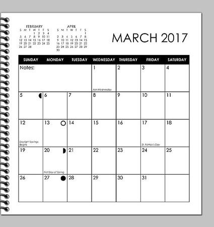 2017 Calendar abstract planner DRAFT