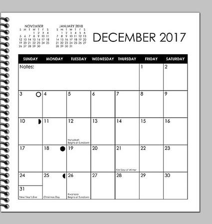 2017 Calendar planner DRAFT