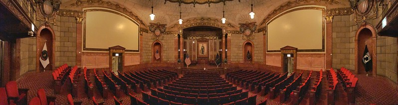 Inside the Auditorium of the Indiana War Memorial