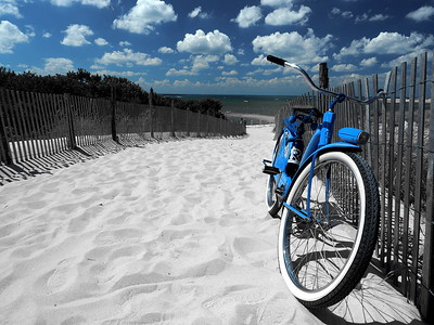 The Old Blue Bike at Cape Henlopen