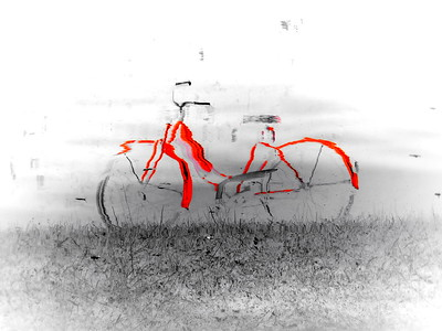 Reflecting on the Odd Red Bike