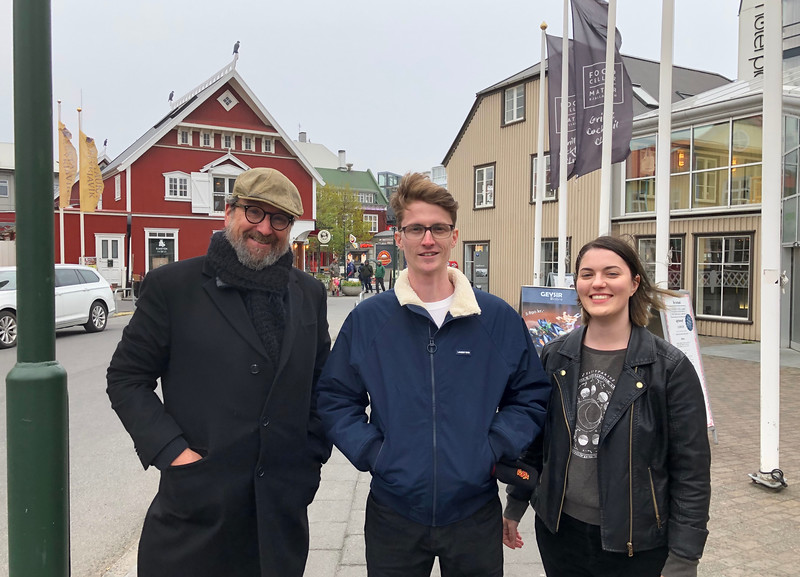 Sociology Professor David Brain, and New College students Billy Cooney and Maria Vanallen traveled to Iceland to confer with research partners and to attend an invitation-only symposium on the future of public space.