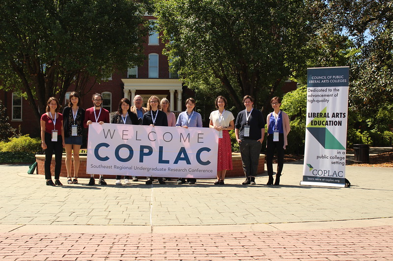 Nine students were selected to make with poster presentations or 12 minute oral presentations at the COPLAC Southeastern Undergraduate Research Conference at Georgia College.