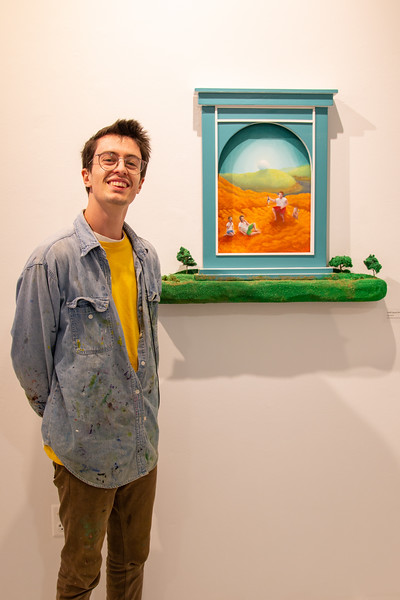 "Fourth-year Jack Micoli received an honorable mention for his artwork, ""Golf Course Strip Mine."""