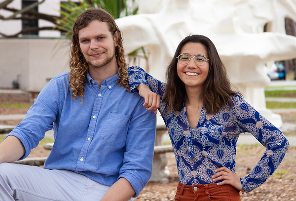 Evan Teal and Kaithleen Coñoepan are New College's newest Fulbright Scholarship finalists.