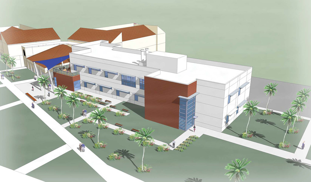 An artist's rendering of the new wing of the Heiser Natural Sciences Complex. The new facility is scheduled to open next fall.