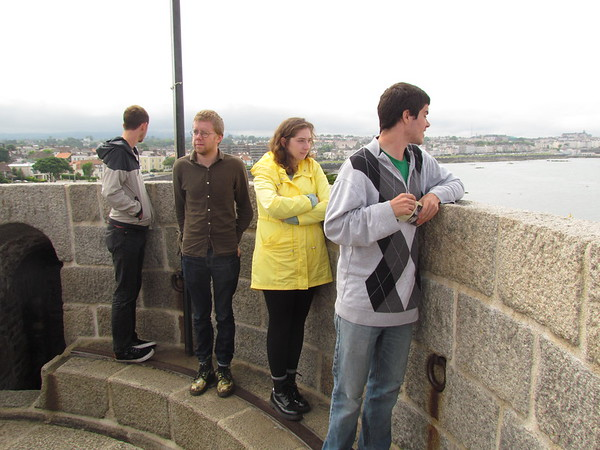 James Joyce Scholars view the Dublin skyline during their recent trip.