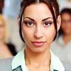 Closeup portrait of a beautiful young businesswoman