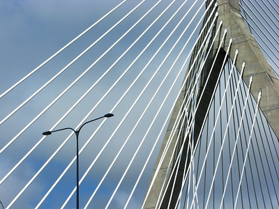 The Leonard P. Zakim Bunker Hill Bridge, Boston.