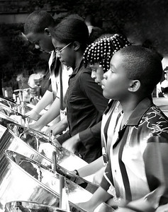 Branch Steel Orchestra performing at the MFA Boston on August 7, 2009