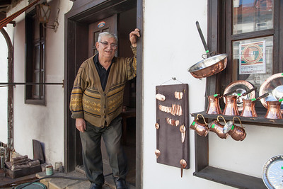 Metal craftsman, Veliko Tarnovo, Bulgaria.