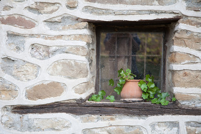 Window of an 18th century house in Arbanasi, Bulgaria.  Arbanasi is known for the large number of historical monuments such as 17th- and 18th-century churches which has turned it into a popular tourist destination.