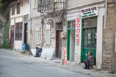 English language book store in Veliko Tarnovo, Bulgaria