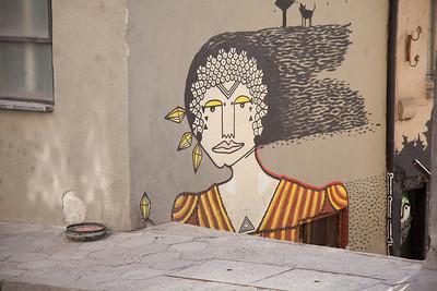 Mural, Veliko Tarnovo, Bulgaria.