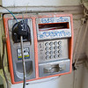 Vandalized phone, Bucharest, Romania