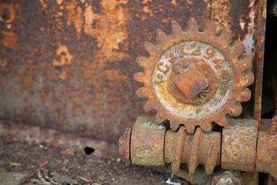 Gears on Old Combine, Friday Harbor, San Juan Islands